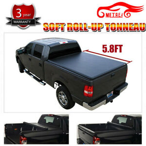 Soft Roll up Tonneau Cover Fit 07 18 Silverado sierra 6 5 Fleetside Bed