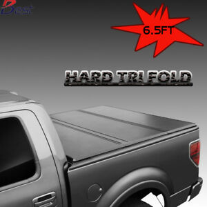 Tri fold Hard Solid Tonneau Cover Fit 2007 2018 Chevy Silverado 6 5 Ft Bed Us