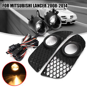 Bumper Grille Fog Light Harness Switch Wiring Kit For 08 2014 Mitsubishi Lancer