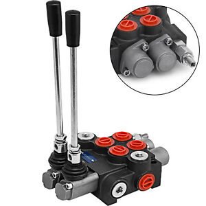2 Spool Hydraulic Directional Control Valve 11gpm Double Acting Cylinder 40l min