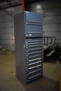 Stanley Vidmar Model 340 And 175 Double Stack 13 Drawers
