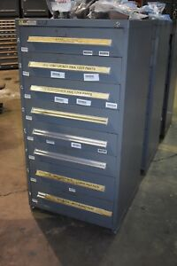 Stanley Vidmar Model 340 Cabinet 8 drawers