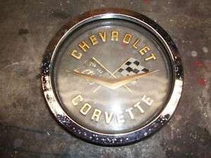 1958 1959 1960 1961 1962 Original Corvette Rear Emblem And Bezel