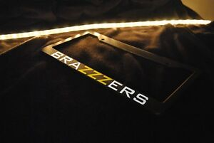 Brazzers Style Jdm Euro Drift Stance Lowered Funny Black License Plate Frame