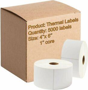 5000 Direct Thermal Labels 4 X 6 Very Sticky Made In The Usa Direct