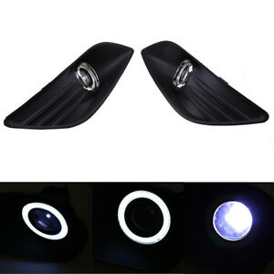 2x Led Drl Daytime Fog Lights Angel Eyes Bumper Cover For Ford Focus 2008 2010