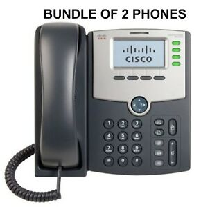 Cisco Model Ip Spa504g Voip Phone Bundle Of Two Phones Free Shipping