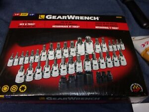 Gearwrench 40 Piece Hex torx Socket Set 1 4 3 8 1 2 Drive Gearwrench 40424a