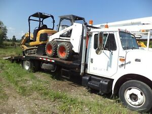 2002 International 4600 Car Wrecker Or Bobcat Loader Excavator Equipment Hauler