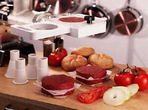 Weston Rapid Patty Maker Hamburger 07 0901 w Press Meat Grinder Stuffer