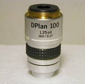 Olympus Dplan 100x Microscope Objective 160mm Excellent Condition
