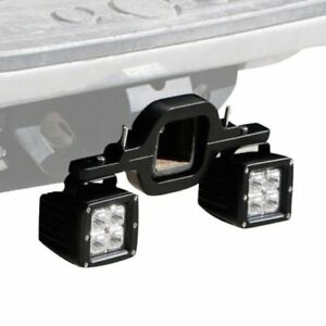 Dual Led Backup Reverse Work Light 2 Rear Tow Hitch Mount Bracket Universal Xm