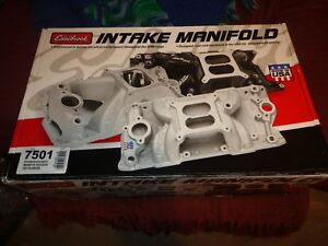 Edelbrock Performer Rpm Air Gap Intake Manifold Chevy 1955 86 7501