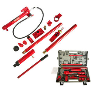 10 Ton Hydraulic Pump Jack Porta Power Ram Repair Lift Tool Kit Us Shipping