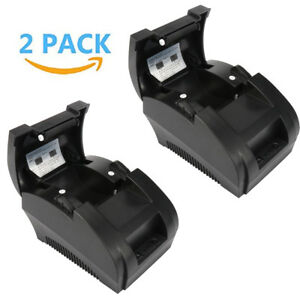 2 Pack Thermal Printer Mini 58mm Usb Pos Receipt Printer Roll Paper Supermarket