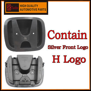 Front Grill Emblem Base And Front Badge For Honda 2007 2011 Crv 71129 Swn H01