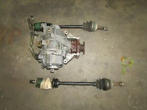 Jdm Mitsubishi Evolution Evo 7 Ayc Rear Differential Carrier Assembly Axles Pair