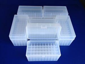 6 pack of 50 round plastic ammo boxes LR-50 Large Rifle 270 25-06 30-06