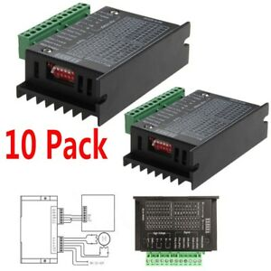Lot 10x Cnc Single Axis 4a Tb6600 Phase Hybrid Stepper Motor Driver Controller