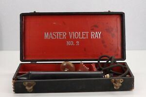 Antique Master Violet Ray High Frequency Quack Medical Device Orig Case No 2