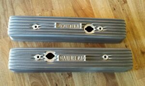 1953 66 Buick Nailhead 322 364 401 425 Satin Finned Valve Covers Eelco