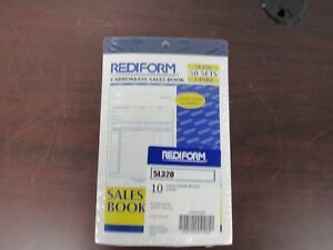 Lot Of 10 50 To 1 Book Rediform 2 part Carbonless Sales Forms 5l320 29c