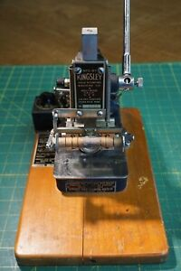 Kingsley Machine Model M 50 Single Line Hot Foil Stamping tested