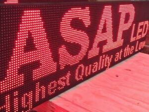 Led Sign 38 x63 10mm Red Color outdoor Programmable Board Made In Usa