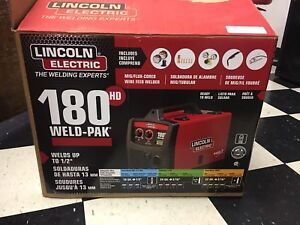 Lincoln Electric 180 Amp Weld pak 180 Hd Mig Wire Feed W Bonus Extras New
