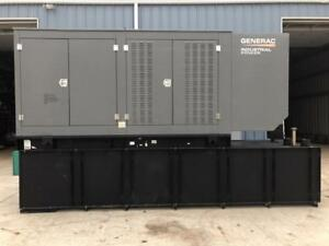 _350 Kw Generac Generator Set 12 Lead 1000 Gallon Base Fuel Tank Low Hours