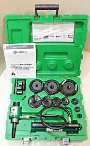 mint Greenlee 7310sb Hydraulic Knockout Punch Set 100 Tested