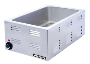 Adcraft Fw 1200w Countertop Food Warmer Portable Steam Table Full Pan Size 120v