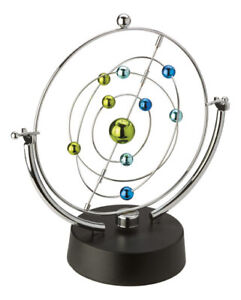 Magnetic Color Orb Planetary System Style Perpetual Motion Desk Sculpture Toy