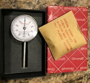 Starrett 196b Universal Back Plunger Dial Indicator Excellent In Box With Parts