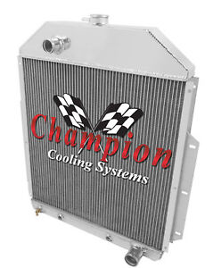 3 Row Best Cooling Champion Radiator For 1942 1952 Ford Truck Chevy Conversion