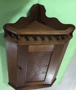 Antique Hanging Corner Cupboard Walnut