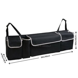 Universal High Capacity Multi use Car Truck Seat Back Cargo Trunk Organizer Bag