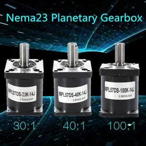 Nema 23 Planetary Gearbox Ratio 30 1 40 1 100 1 Reducer For 57mm Stepper Motor