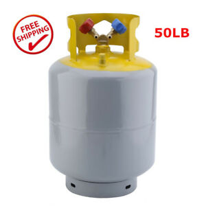 50lb Refrigerant Recovery Cylinder Tank Reusable Recovery Device 400 Psi Ma