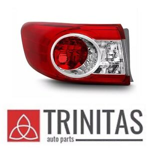 New 2011 2013 Toyota Corolla Driver Left Outer Lh Taillight Taillamp