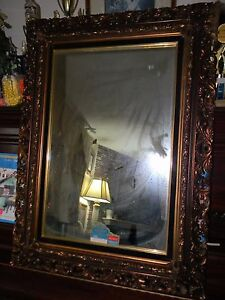 Vintage Victorian Ornate High Def Fashion Plate Mirror 27x38 Frame By Turner