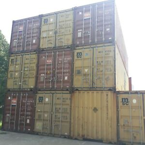 40 Ground Level Steel Storage Container