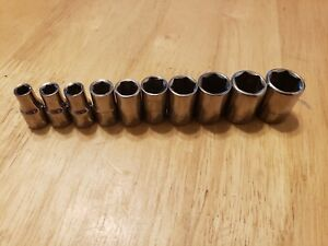 Craftsman 10pc Metric 1 4 Dr 6pt Shallow Socket Set Free Shipping