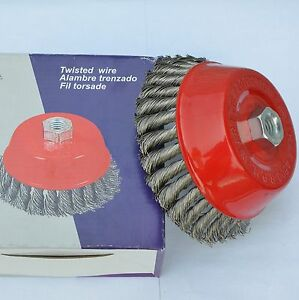 Premium 2 1 2 Knotted Cup Wire Twist Brush With 5 8 11 Thread 4 Angle Grinder