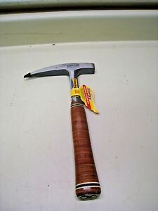 Estwing E30 30oz Steel Smooth Face Pointed Tip Leather Grip Rock Pick Hammer