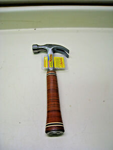 Estwing E20c 20oz Steel Smooth Face Curved Claw Hammer W Leather Grip New