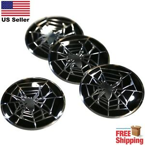 4 Pack Spider Web Wheel Center Cap Sticker Emblem Decals 2 2 Dome