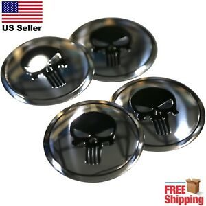 4x Punisher Emblem Wheel Center Cap Sticker Decals 2 2 Dome