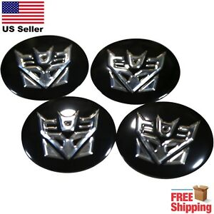 Pack Of 4 Transformers Decepticons Wheel Center Cap Sticker Decals 2 5 Dome
