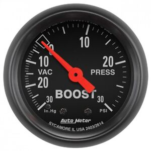 Autometer Z Series Boost Gauge 2 1 16 0 30psi 2614